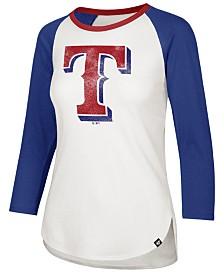 '47 Brand Women's Texas Rangers Splitter Raglan T-Shirt