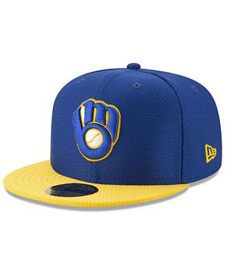 size 40 01fce 89d72 New Era Boys  Milwaukee Brewers Batting Practice 59FIFTY Cap   Reviews -  All Kids - Sports Fan Shop - Macy s