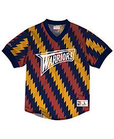 Mitchell & Ness Men's Golden State Warriors Kicking It Wordmark Mesh T-Shirt