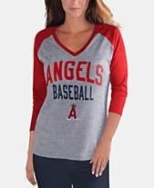 0b7af2a2a G-III Sports Women s Los Angeles Angels It s a Game Raglan T-Shirt