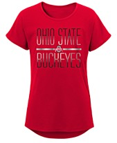 189f6e303f2 Outerstuff Big Girls Ohio State Buckeyes Team Stripe T-Shirt