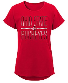 Outerstuff Big Girls Ohio State Buckeyes Team Stripe T-Shirt