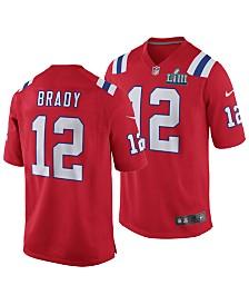 Nike Men's Tom Brady New England Patriots Super Bowl LIII Patch Game Jersey
