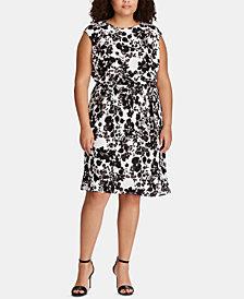 Lauren Ralph Lauren Plus Size Fit & Flare Dress