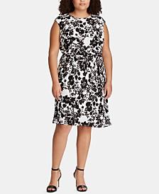a242a808bb9 Lauren Ralph Lauren Plus Size Fit   Flare Dress