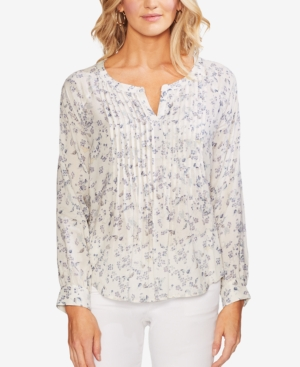 Vince Camuto Tops PRINTED PINTUCKED TOP