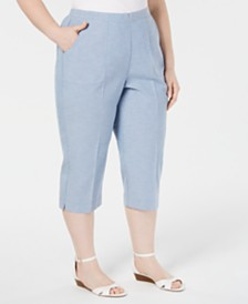 Alfred Dunner Plus Size Monterey Cropped Pants