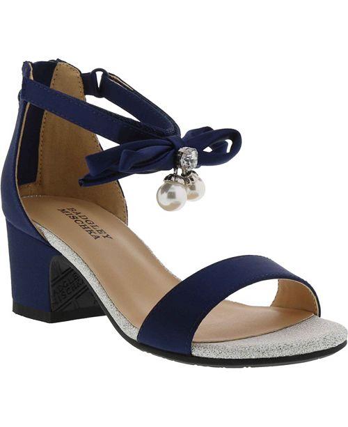 Badgley Mischka Little & Big Girls Pernia Pearl Bow Dress Shoe