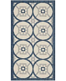 "Safavieh Courtyard Beige and Navy 2' x 3'7"" Sisal Weave Area Rug"