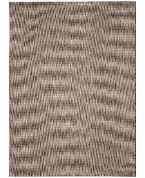 Safavieh Courtyard Brown and Beige 8' x 11' Sisal Weave Area Rug