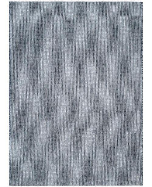 Safavieh Courtyard Navy and Gray 8' x 11' Sisal Weave Area Rug