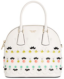 kate spade new york Sylvia Jeweled Dome Leather Satchel
