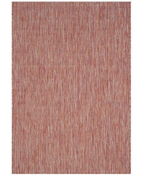 "Safavieh Courtyard Red 4' x 5'7"" Sisal Weave Area Rug"
