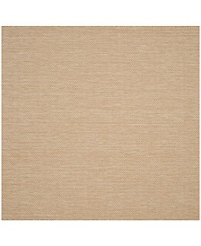 """Safavieh Courtyard Natural and Cream 6'7"""" x 6'7"""" Square Area Rug"""