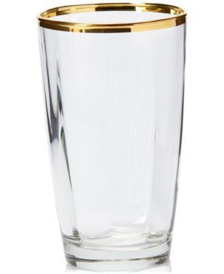 Optical Gold Highball Glass
