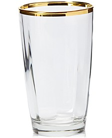 Optical Gold Highball Glass