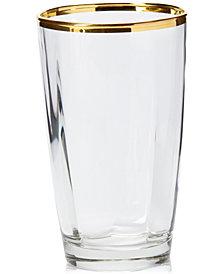 Vietri Optical Gold Highball Glass