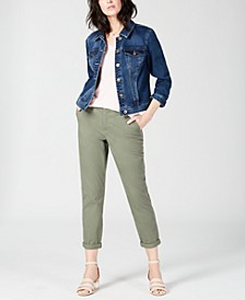 V-Neck T-Shirt, Denim Jacket & Slim Ankle Pants, Created for Macy's