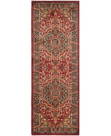 """Mahal Navy and Red 2'2"""" x 6' Runner Area Rug"""