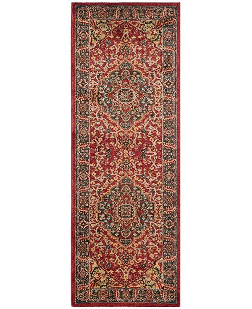 """Safavieh Mahal Navy and Red 2'2"""" x 6' Runner Area Rug"""