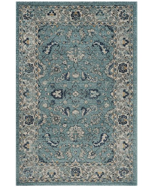 Safavieh Carmel Turquoise and Beige 4' x 6' Area Rug