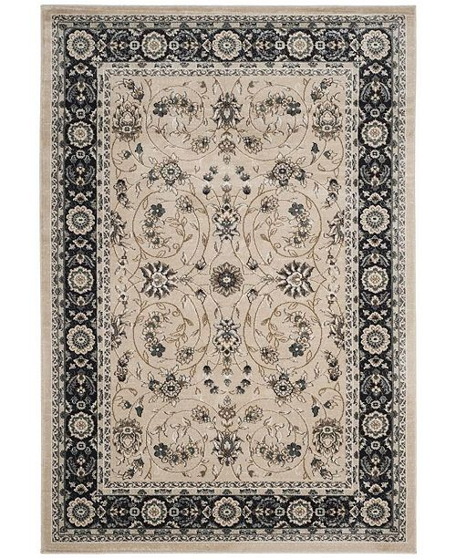 "Safavieh Lyndhurst Light Beige and Anthracite 3'3"" x 5'3"" Area Rug"