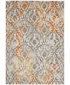 "Safavieh Madison Cream and Orange 6'7"" x 9'2"" Area Rug"