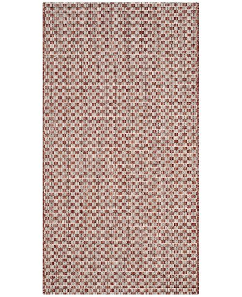"Safavieh Courtyard Rust and Light Gray 2'7"" x 5' Sisal Weave Area Rug"