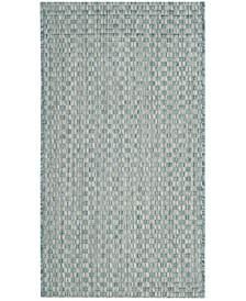 "Courtyard Light Blue and Light Gray 2' x 3'7"" Sisal Weave Area Rug"