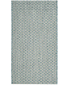 "Safavieh Courtyard Light Blue and Light Gray 2' x 3'7"" Sisal Weave Area Rug"