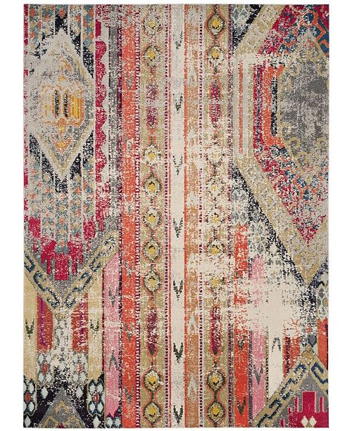 Safavieh Monaco Light Gray and Multi 9' x 12' Area Rug