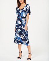 7a86b9681be Connected Printed Overlay A-Line Dress