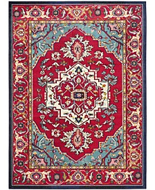 Monaco Red and Turquoise 8' x 10' Area Rug