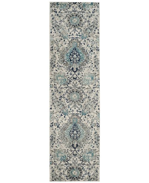 "Safavieh Madison Cream and Light Grey 2'3"" x 6' Runner Area Rug"