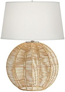 """28"""" Rattan Ball Table Lamp"""