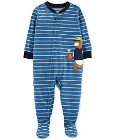 Carter's Baby Boys Baseball Bear Footed Pajamas