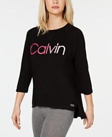 Calvin Klein Performance Ombré Logo High-Low Hem Top