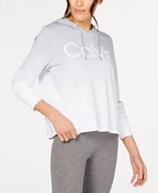 Calvin Klein Performance Ombré Logo Hoodie