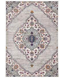 Safavieh Madison Light Gray and Fuchsia 3' x 5' Sisal Weave Area Rug