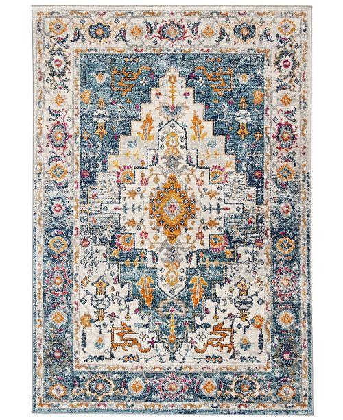 Safavieh Madison Turquoise and Ivory 6' x 9' Sisal Weave Area Rug