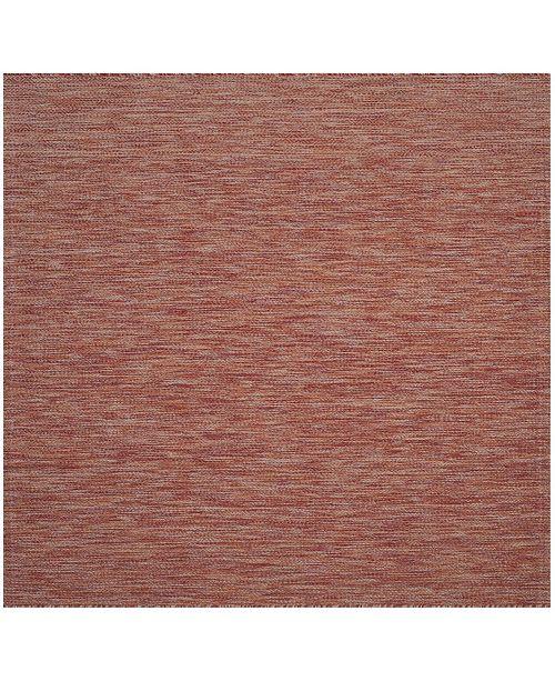 "Safavieh Courtyard Red 5'3"" x 5'3"" Sisal Weave Square Area Rug"