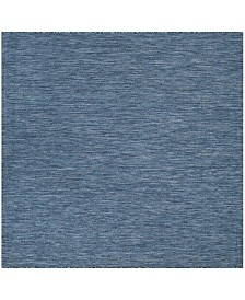 "Safavieh Courtyard Navy 5'3"" x 5'3"" Sisal Weave Square Area Rug"