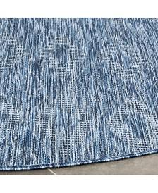 "Safavieh Courtyard Navy 5'3"" x 5'3"" Sisal Weave Round Area Rug"