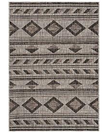 "Safavieh Courtyard Gray and Black 2' x 3'7"" Sisal Weave Area Rug"