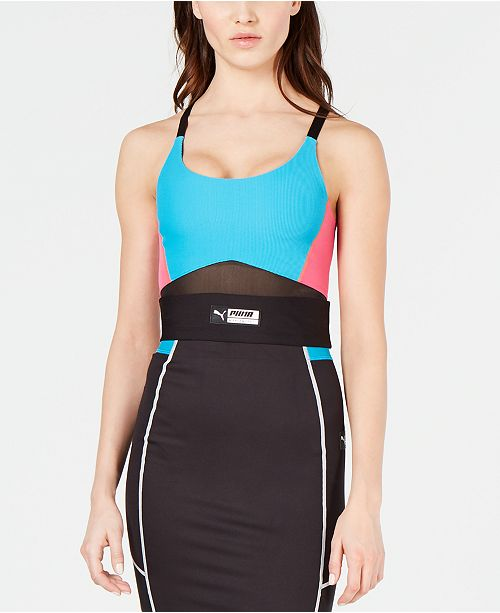 Puma TZ Colorblocked Cropped Tank Top