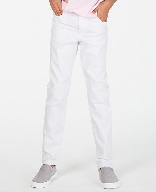 Epic Threads Big Boys White Denim Jeans, Created for Macy's