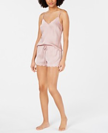 I.N.C. Scalloped-Edge Camisole Top and Shorts Sleep Separates, Created for Macy's
