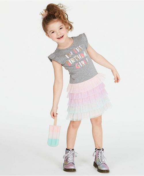 Epic Threads Toddler Girls Birthday Tulle Dress, Created for Macy's