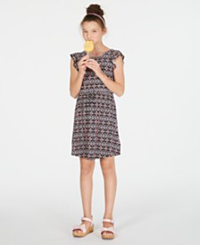 Epic Threads Super Soft Big Girls Geo-Print Fit & Flare Dress, Created for Macy's