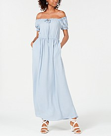Juniors' Off-The-Shoulder Maxi Dress, Created for Macy's